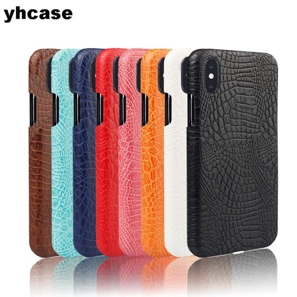 Crocodile pattern PU Case For iPhone X XS MAX XR 6 7 8 Shock Absorption Soft feeling Shockproof Full Body Protect Cover Case FREE DHL
