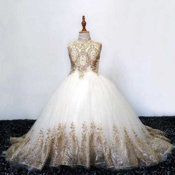 Белый с золотым кружевом