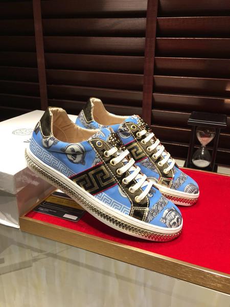 Calzados informales de los hombres de lujo 2019nn, zapatillas para correr al aire libre para caminatas silvestres de la nueva moda de color, caja de zapatos de embalaje original de entrega de logística DHL