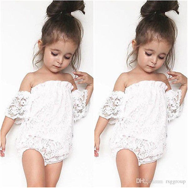 INS Princess Infant Baby Rompers Summer Design Girls Clothes Lace Fly Sleeve Jumpsuits Toddler Outfits Cotton Bodysuits Baby Climb Clothing