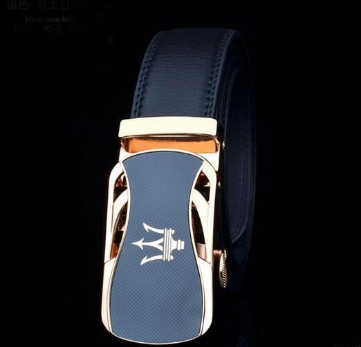 New 2019 Designer Belts Mens High Quality Luxury Leather straps Automatic Buckle Black Business Trouser Cinturones Hombre Cinto