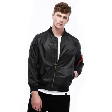 Fall and Winter 2018 New Men's Fashion American Jackets Fashion Ribbon Men's Clothing Solid Color Outerwear Tops