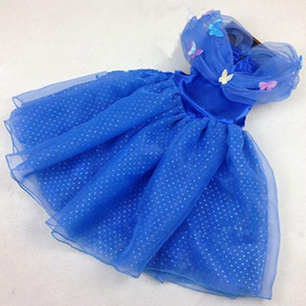 New baby girls Cinderella princess dress kids cosplay costumes party Dresses Halloween Christmas kids designer clothing C1402