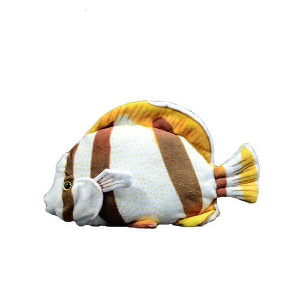 1 unid 20 cm simulación de pescado Nueva Llegada de Océano Animal Realista Realista de Peluche de Juguete de Peluche de Pescado Tropical para Niños niños