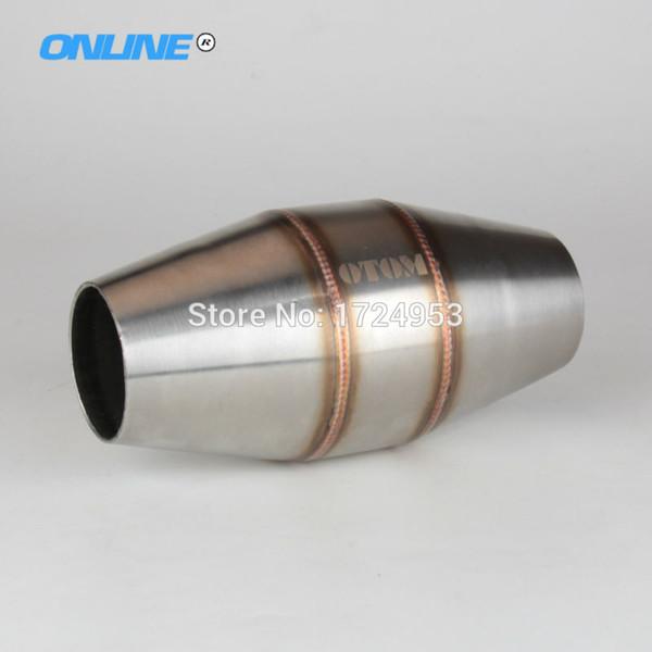Di scarico 45 millimetri Moto silenziatore del tubo di espansione da camera per Dirt Bike Pit Bike Motocross CRF RMZ DRZ YZF CR KXF EXC