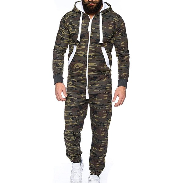 nuovo concetto 8ab75 26bc7 Acquista Tuta Unisex Da Uomo Tuta Intera Camouflage Colletto Con Cappuccio  Piumato Pigiama Camicia Con Cappuccio A $36.52 Dal Balsamor | DHgate.Com