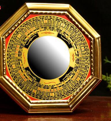 Kaiyun Bagua mirror convex concave alloy block evil mirror Zhaocai ornaments Tai Chi Yin and Yang mirror christmas Human Vintage Handmade