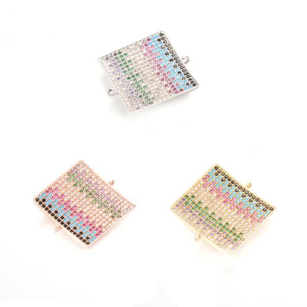 Résultats de bijoux Composants pleine strass place Icsp042 Bijou Composants 22,6 * 25 mm Sparkly Cz Micro Pave Charm étoile