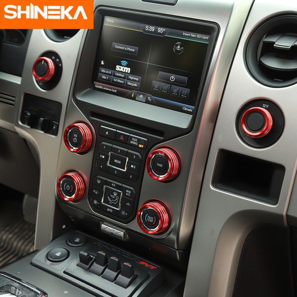 shineka interior mouldings for f150 2009-2014 4wd drive headlight switch button decoration covers stickers for f150