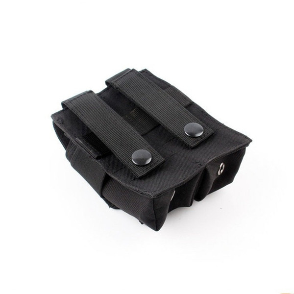 Tactical Pistol Double Magazine Pouch Molle Clip Airsoft Mag Holder Bag Hunting Accessories and Flashlight bag