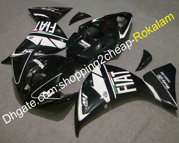 YZF1000-R1 YZF1000 09 10 11 Fairing Set For Yamaha YZF R1 2009 2010 2011 Race Motorcycle Black FIAT Bodywork Kit (Injection molding)