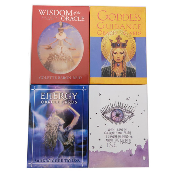 2019 new 6 styles English Oracle Cards deck , Tarot Cards guidance divination fate board game card game for women