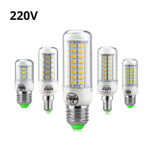 Full NEW LED lamp E27 E14 3W 5W 7W 12W 15W 18W 20W 25W SMD5730 Corn Bulb 220V Chandelier LEDs Candle light Spotlight