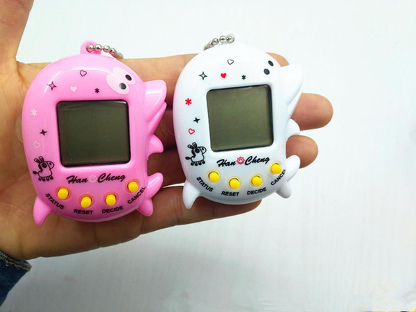 lowprice Tamagochi Egg Shape Virtual Cyber Digital Pets Electronic Digital E-pet Retro Funny Toy Handheld Game Pet Machine Toy