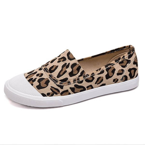 2020 woman shoe splice color flats fashion new leopard flat shoes for women flat shoes loafer canvas sneakers - from $22.75