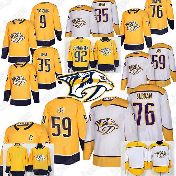 Men's Predators jerseys 76 P.K. Subb 59 Roman Josi 35 Pekka Rinne 9 Filip Forsberg 92 Ryan Johansen maglie 2019 vendita calda uniforme