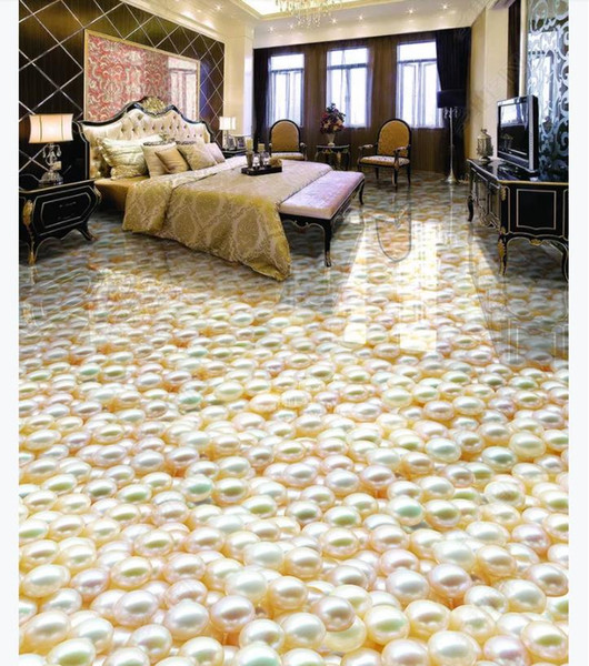Customized 3d Wallpaper Floor Painting Self Adhesive Waterproof Floor Ultra Hd Huge Jewelry Luxury Upscale Villa 3d Bathroom Floor Painting Free 3d