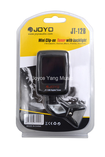 top popular JOYO JT-12B Clip on Digital Guitar Tuner with Backlight Rotated For Chromatic Guitar Bass Violin Ukulele 2021