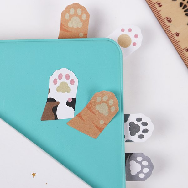1PC 5 Colors Cute Mini Cat Memo Notepad Notebook Memo Pad Self-Adhesive Sticky Notes Bookmark Gift Stationery
