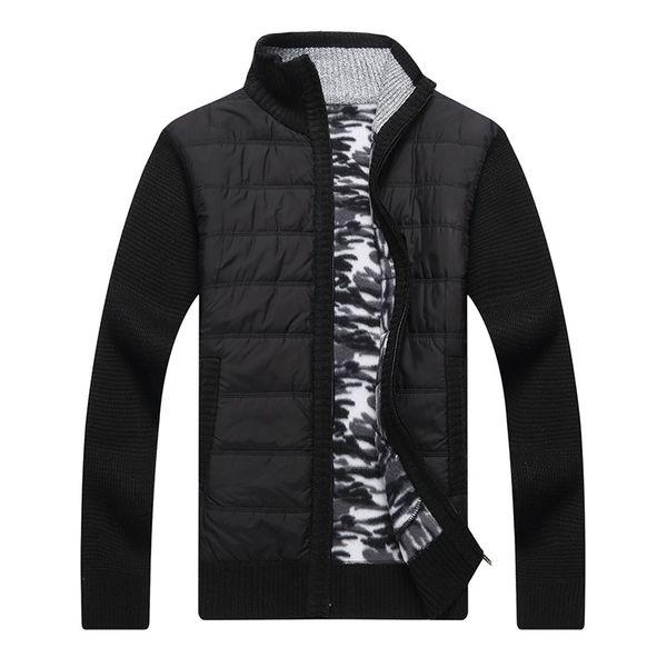 Großhandel Männer Strickjacke Jacke Herren Wolle Pullover Patchwork Warme Lässige Strick Strickjacke Streetwear Herbst Winter Jacken Von