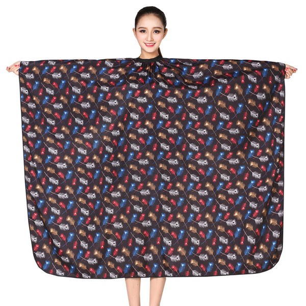 1pcs Professional Hairdressing Apron Hair Cutting Flower Printing Cape Barber Styling Salon Camps Hairdresser Wrap Cloth(K068)