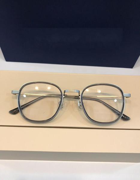 glasses Prescription GM01 rimless gold frame leopard animal logo optical for men design clear glass ultralight france designer