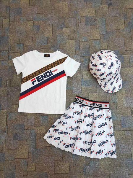 713dbbda0 girls breast style Promo Codes - Kids Girls 2pcs Sets Jumper Tops  Tshirts+ruffle Skirts