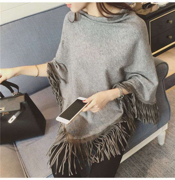 's Clothing Sweaters poncho winter wool ponchos and capes fall 2016 women poncho cape shawl pullover cardigan womens capes and ponchoes
