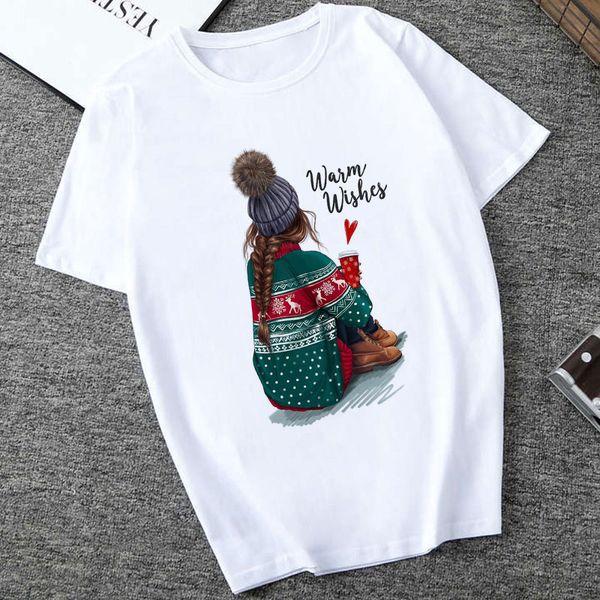 Mode Brief Gedruckt T-shirt Freizeit Streetwear Ästhetische T-shirt Top Frauen Kleidung Harajuku Sommer Top Waim Wünsche