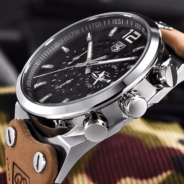 690c16b6c40 Mens Watch Top Marca de Luxo Cronógrafo Esporte Homens Relógios Moda  Militar à prova d