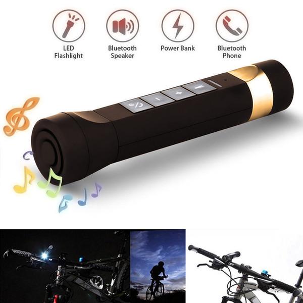 Youoklight 1PCS 1W 5V Холодный белый Bluetooth Многофункциональный велосипед Bluetooth-динамик + мобильный банк питания + светодиодный фонарик + Bluetooth Call + F