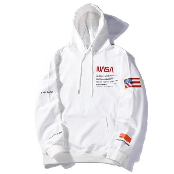 Atacado Americano e Europeu Hipster Preston x NASA Designer Moletom Com Capuz Jovem Popularidade Mens Designer Roupas Lazer Camisola