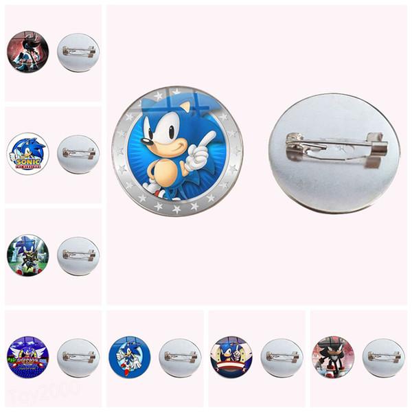 Sonic Hedgehog animales esmalte pin insignia broche Pin de la solapa Denim Jeans camisa bolsa de dibujos animados de joyería regalo para niños juguetes