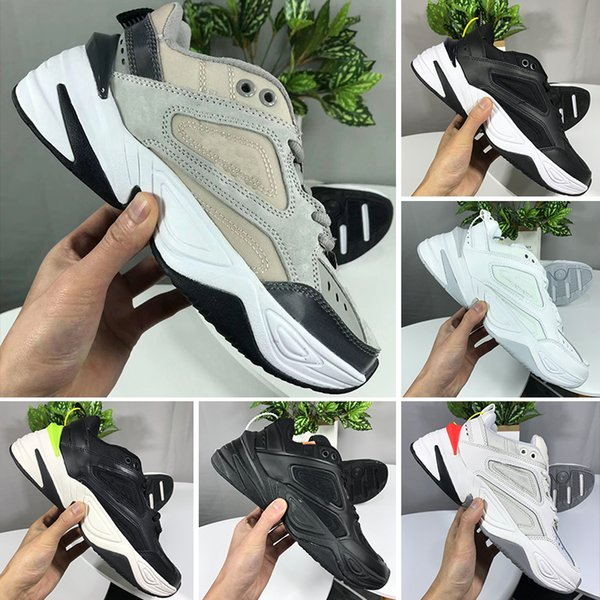 Großhandel Nike Air Monarch The M2K Tekno Air Monarch M2K Tekno Vati Laufschuhe Schwarz Volt John Elliott Paris Phantom Rosa Weiß Herren Damen Sport
