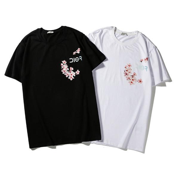 Unisexe Femmes Hommes Oversize Mode T-shirt à manches courtes Chemises O-cou Hauts 2 couleurs Simple Style Romance Imprimer B103862Z