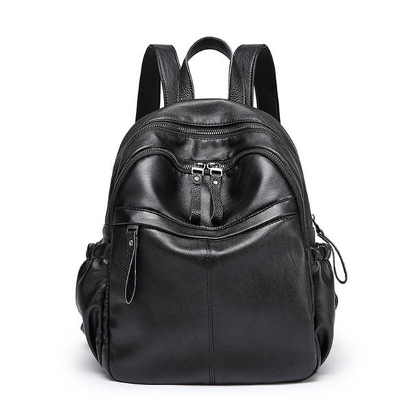 Frauen schafe Leder Rucksäcke Vintage Weiblichen Umhängetasche Sac a Dos Reise Damen Bagpack Mochilas Schultaschen frauen rucksack
