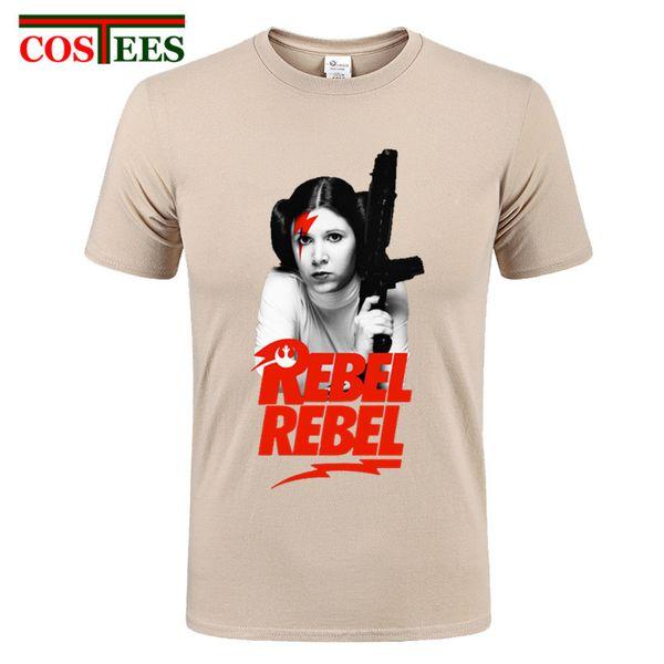 2017 Prenses Leia REBEL komik JEDI bej pamuk erkek t gömlek crossfit Kaykay beyzbol forması 3d asi tshirt
