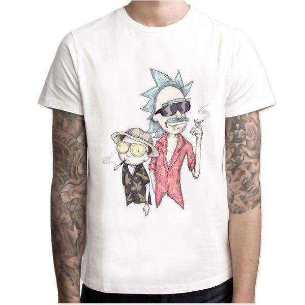 2019 Новый маринованный rickT-футболка с надписью Rick and Anime прикольная футболка rick Cool Tshirt Homme Популярная уличная одежда с круглым вырезом