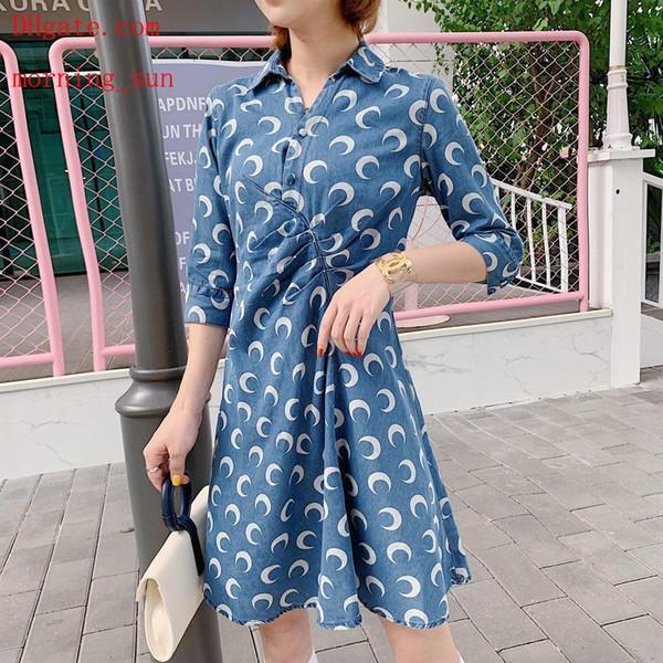 kleiden Sie heiße Verkauf 2019 Markensommerkleider gedruckte dünne Rockfrauen kleidet beiläufige Sommerkleidfrauenoverallfrauen dresses6 der Qualitäts