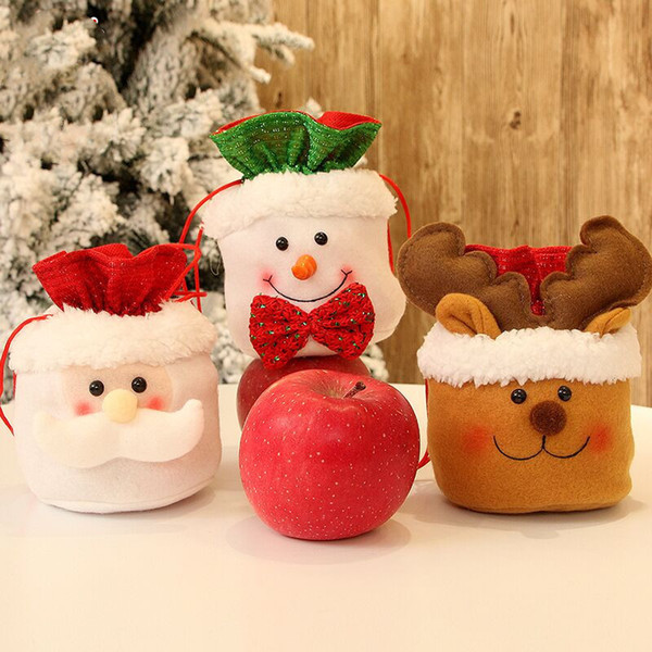 Christmas Candy Party Gift Bag Decorations Xmas apple Storage Packing Wrapper Supplies Decor christmas Tree presents navidad