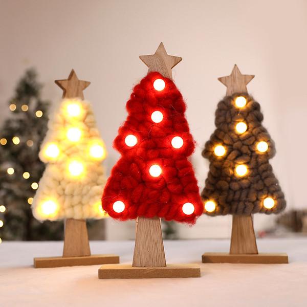 Led Feutre Éclairage Arbre De Noël Cadeaux De Noël Nouvel An Noël Home Party Décorations Comme Ornements WX9-1096