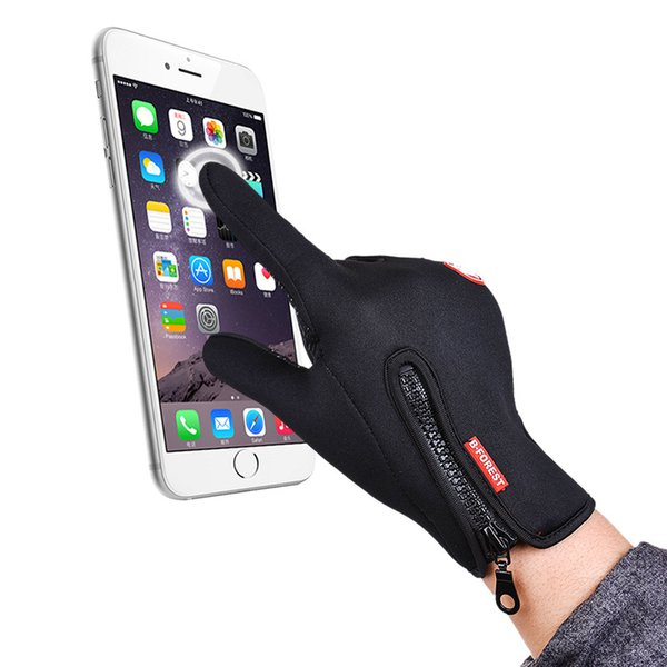 7 Colors B-Forest Outdoor unsexy Full Finger Wind Gloves Polar Fleece Capacitive Touch Screen Gloves Sports Gloves For Smart CellPhone