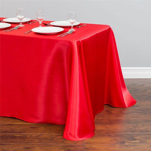 Nappe de satin multicolore polyester satin couverture de table superposition pour la fête d'anniversaire de mariage banquet décoration