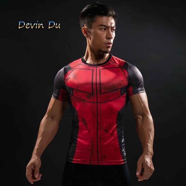 Divertido camiseta de Deadpool Tee Camisetas impresas en 3d Hombres Ropa de gimnasia Tops masculinos Camiseta divertida hombre Deadpool Pantalla de vestuario