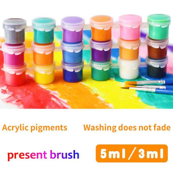 best selling 8 Color set 50 Set Mix Wholesale Kids Paint Box Children Educational Toy Draw Tool Kit Painting With Art DIY Drawing Brush