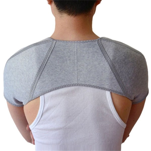 Mayitr Bamboo Charcoal Fiber Back Support Men and Women Double Shoulder Support Brace Across Shoulder 4 Sizes Sports Safety