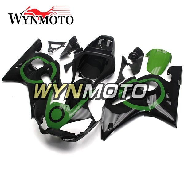 Black Green Ring Sportbike Covers Panels For Yamaha YZF-600 R6 Year 1998 99 00 01 2002 Complete Fairing Kit Brand New Plastic Cowling