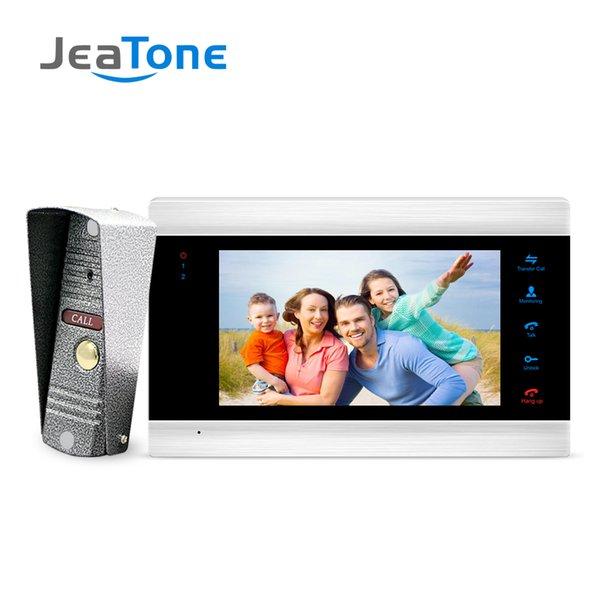 JeaTone da 7 pollici del telefono Monitor Video campanello della porta con 1200TVL telecamera esterna della porta citofono del telefono