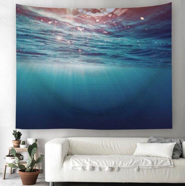 Série Oceano 3D Criativo Padrão Tapeçaria Ployester tapeçaria tapeçaria para decoração de parede tecido casa fundo pano Yoga Mats H370