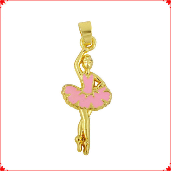30pcs Handmade Material Ballet Girl Alloy Accessories gold dancer ballerina charms pendants for necklace bracelet earring diy jewelry making